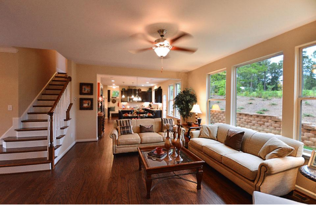 Open Floorplan with Hardwood Floors in Brightleaf at the Park Community
