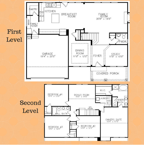 Floorplan for Brightleaf at the Park Home to Build